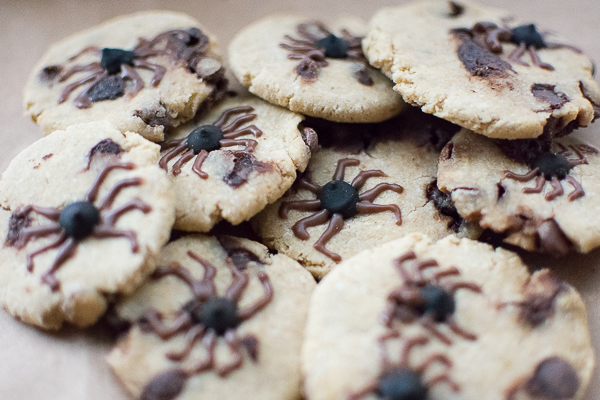 Carob Chip Spider Cookies