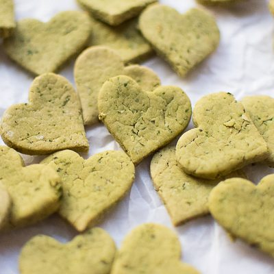 Mint parsley dog treats